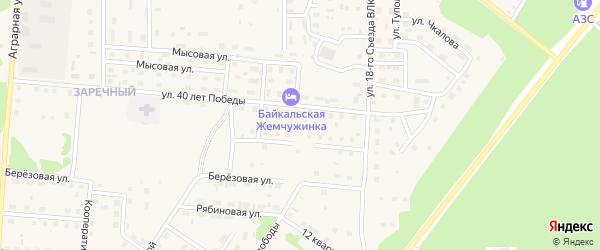 Молодежная улица на карте Северобайкальска с номерами домов