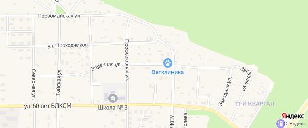 Заречная улица на карте Северобайкальска с номерами домов