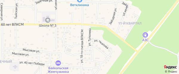 Улица Туполева на карте Северобайкальска с номерами домов