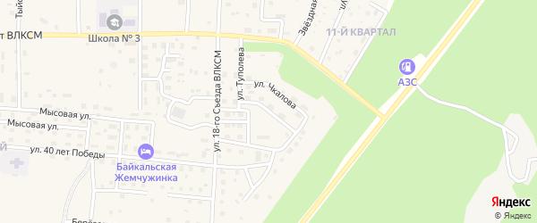 Улица Курочкина на карте Северобайкальска с номерами домов