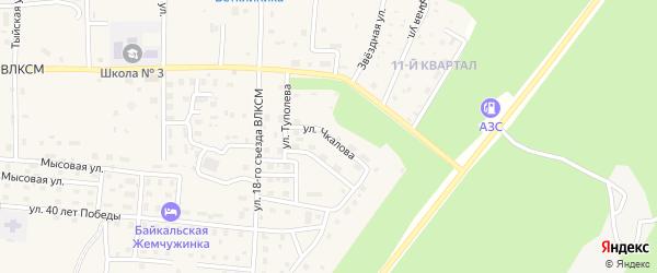 Улица Чкалова на карте Северобайкальска с номерами домов
