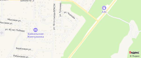 Улица Сухова на карте Северобайкальска с номерами домов