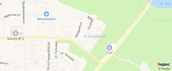 Звездная улица на карте Северобайкальска с номерами домов