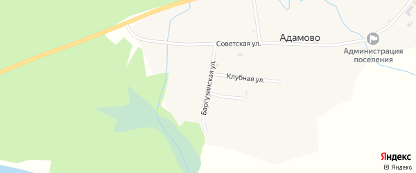 Баргузинская улица на карте села Адамово с номерами домов