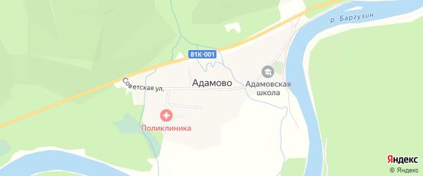 Карта села Адамово в Бурятии с улицами и номерами домов
