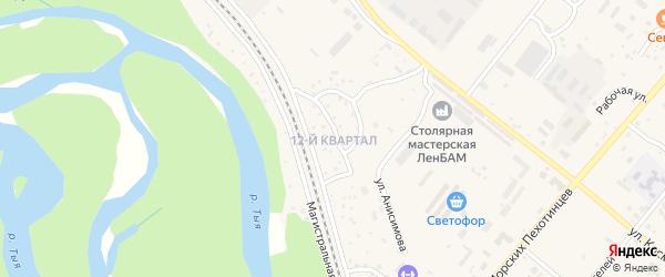 12-й квартал на карте Северобайкальска с номерами домов