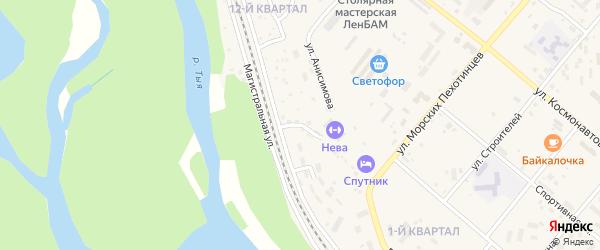 12-й микрорайон на карте Северобайкальска с номерами домов