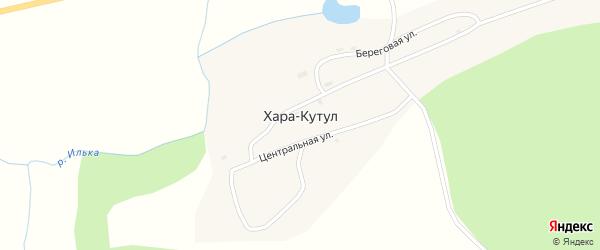 Школьная улица на карте поселка Хара-Кутул с номерами домов