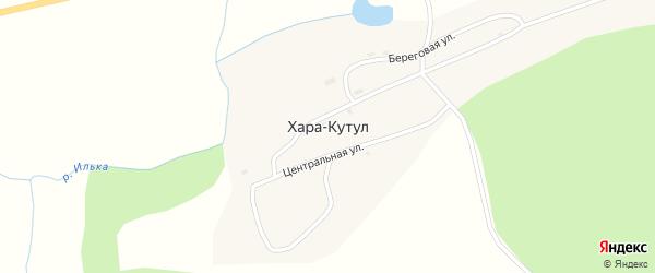 Разъезд Стрелка на карте поселка Хара-Кутул с номерами домов