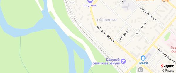 Магистральная улица на карте Северобайкальска с номерами домов