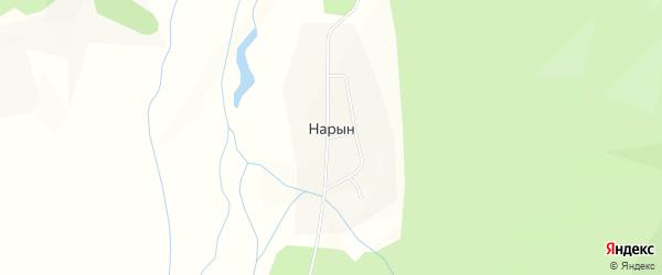 Карта поселка Нарына в Бурятии с улицами и номерами домов