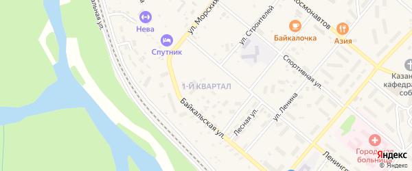 1-й квартал на карте Северобайкальска с номерами домов