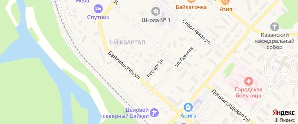 Лесной переулок на карте Северобайкальска с номерами домов