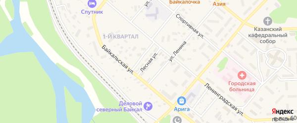 Лесная улица на карте Северобайкальска с номерами домов
