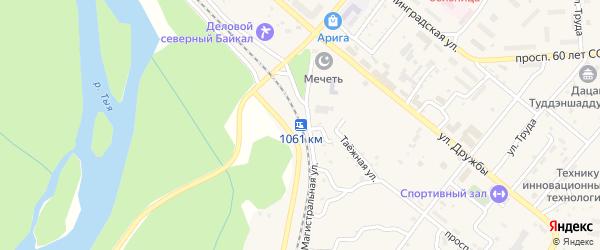 Километр Дороги Северобайкальск-Байкальское 3 на карте Северобайкальска с номерами домов