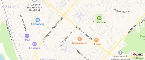 Улица Строителей на карте Северобайкальска с номерами домов