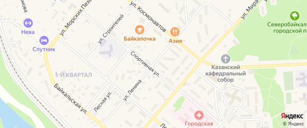 Улица Ленина на карте Северобайкальска с номерами домов