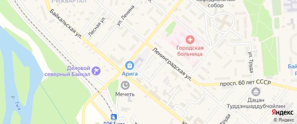 Волгоградский переулок на карте Северобайкальска с номерами домов