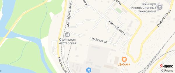 Нийская улица на карте Северобайкальска с номерами домов