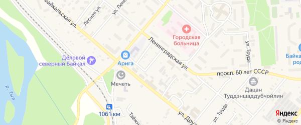 Байкальский переулок на карте Северобайкальска с номерами домов