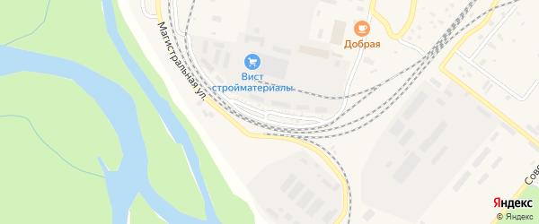 Железнодорожная улица на карте Северобайкальска с номерами домов