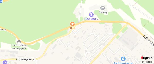 Объездной переулок на карте Северобайкальска с номерами домов