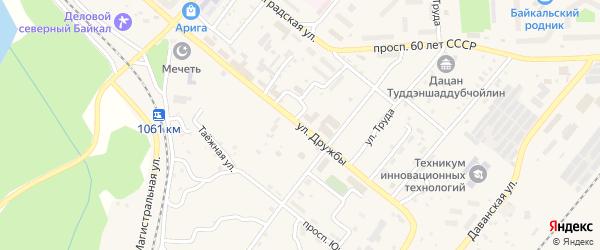 Улица Дружбы на карте Северобайкальска с номерами домов