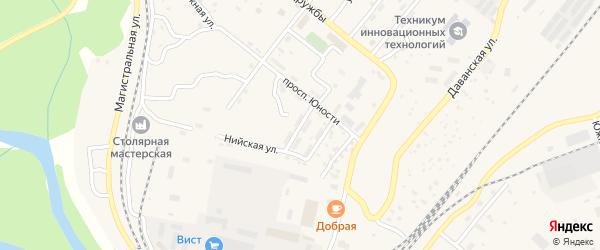 Светлая улица на карте Северобайкальска с номерами домов