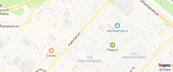 Транспортный переулок на карте Северобайкальска с номерами домов