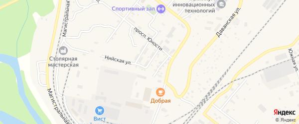 Днепропетровская улица на карте Северобайкальска с номерами домов