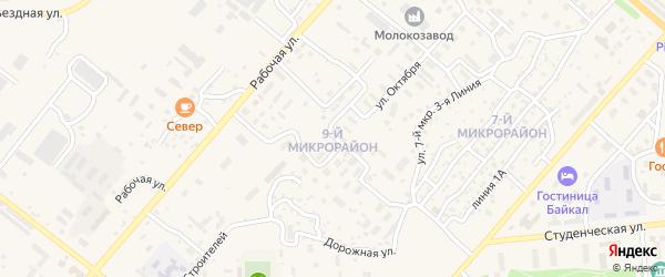 9-й микрорайон на карте Северобайкальска с номерами домов