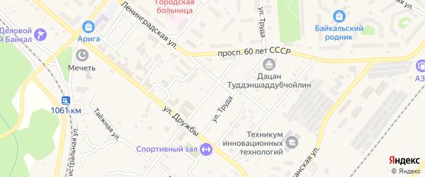 Юбилейная улица на карте Северобайкальска с номерами домов