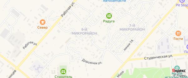 Молодогвардейская улица на карте Северобайкальска с номерами домов