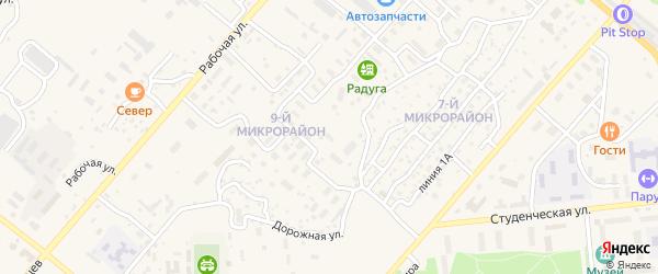 Километр Дороги Северобайкальск-Байкальское 1 на карте Северобайкальска с номерами домов