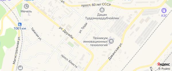 Солнечный переулок на карте Северобайкальска с номерами домов