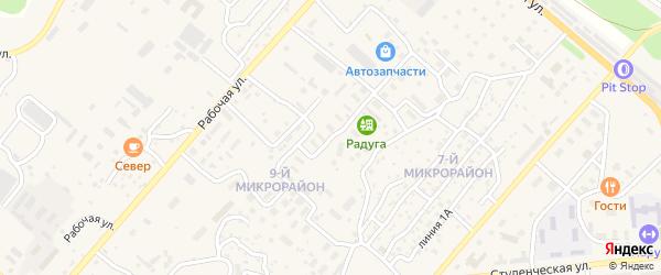 Улица Октября на карте Северобайкальска с номерами домов