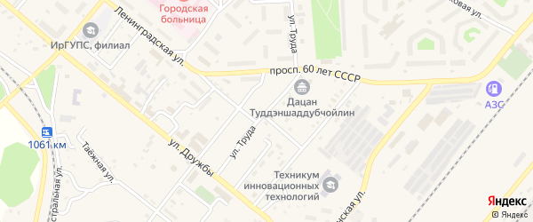 Улица Труда на карте Северобайкальска с номерами домов