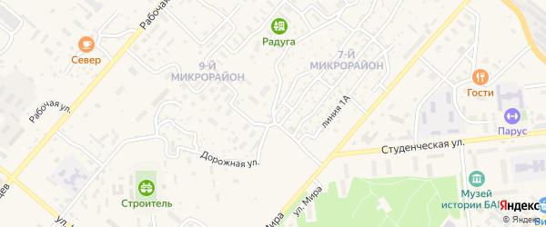 Улица 7 мкр 3 Линия на карте Северобайкальска с номерами домов