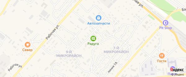 Километр Байкальское шоссе 4 на карте Северобайкальска с номерами домов