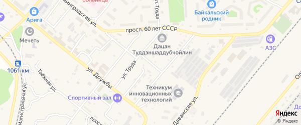 Улица Тоннельщиков на карте Северобайкальска с номерами домов