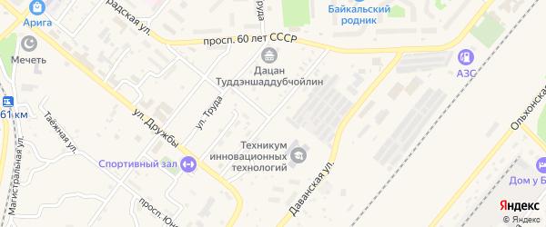 Улица Первопроходцев на карте Северобайкальска с номерами домов