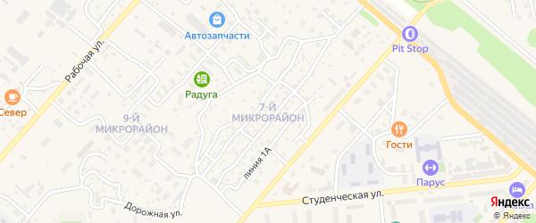 7-й микрорайон на карте Северобайкальска с номерами домов
