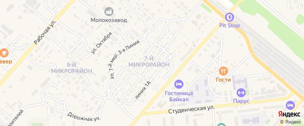 Улица 7 мкр 1 Линия на карте Северобайкальска с номерами домов