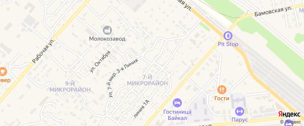 Улица 7 мкр 2 Линия на карте Северобайкальска с номерами домов