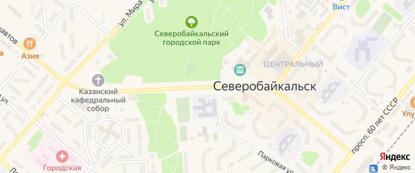 Ленинградский проспект на карте Северобайкальска с номерами домов