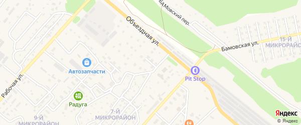 Улица 25 лет БАМ на карте Северобайкальска с номерами домов