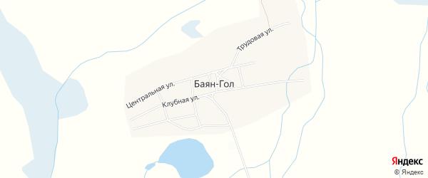 Карта улуса Баян-Гол в Бурятии с улицами и номерами домов