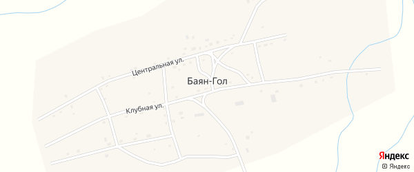Участок Гурт Шубугуй на карте улуса Баян-Гол с номерами домов