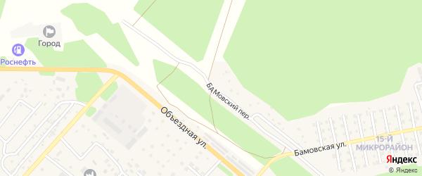 Бамовский переулок на карте Северобайкальска с номерами домов