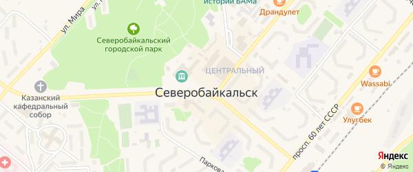 Переулок Строителей на карте Северобайкальска с номерами домов